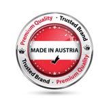 Made in Austria, Premium Quality elegant button / label Royalty Free Stock Photos