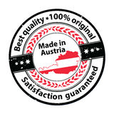 Made in Austria, Satisfaction guaranteed, best quality Stock Photos
