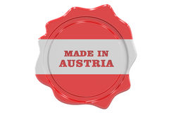 Made in Austria seal, stamp. 3D rendering Stock Photos
