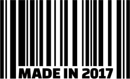 Made in 2017 barcode. Made in 2017 with barcode Stock Photo
