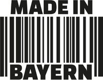 Made in Bavaria barcode german. Vector Royalty Free Stock Images