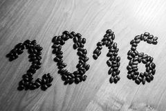 2016 made from beans Royalty Free Stock Images