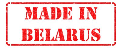 Made in Belarus - Red Rubber Stamp. Stock Images