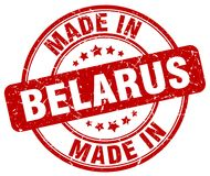 Made in Belarus stamp. Made in Belarus round grunge stamp isolated on white background. Belarus. made in Belarus
