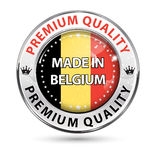 Made in Belgium, Premium Quality - shiny elegant button Stock Photography