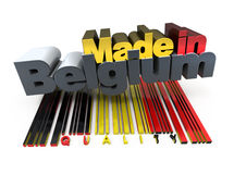 Made in Belgium, quality Stock Image