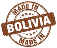 Made in Bolivia stamp. Made in Bolivia round grunge stamp isolated on white background. Bolivia. made in Bolivia