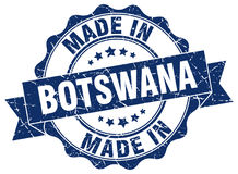 Made in Botswana seal Royalty Free Stock Images