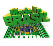 Made in Brasil, quality Royalty Free Stock Photo
