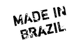 Made In Brazil rubber stamp Stock Images