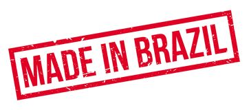 Made in Brazil rubber stamp Royalty Free Stock Photo