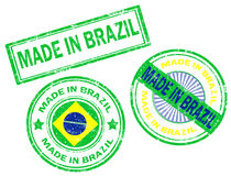 Made in Brazil stamp Stock Photo