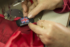 Made in Britain Clothing Tag or Label Stock Photos