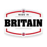 Made in Britain label. Vector royalty free illustration