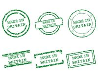 Made in Britain stamps. Detailed and accurate illustration of made in Britain stamps royalty free illustration