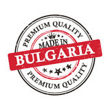 Made in Bulgaria, Premium Quality  printable banner / sticker. Made in Bulgaria, Premium Quality printable grunge label / stamp. Print colors CMYK used Stock Images