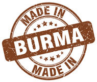 Made in Burma brown grunge stamp. Made in Burma brown grunge round stamp Stock Photos