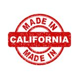 Made in California red stamp. Vector illustration on white background Stock Photography
