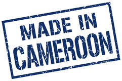 Made in Cameroon stamp Royalty Free Stock Image