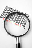 Made in Canada. And barcode, business concept stock photo