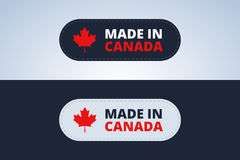 Made in Canada badge. Made in Canada badge, stamp for Canada products. Vector illustration Stock Photos