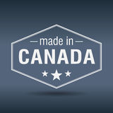 Made in Canada hexagonal vintage label Stock Photography