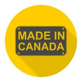 Made in Canada icon with long shadow Royalty Free Stock Images
