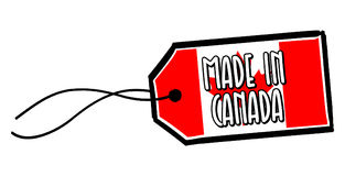 Made in Canada Label. Eps10 Vector Stock Images