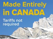Made in Canada - no tariffs required royalty free stock photos