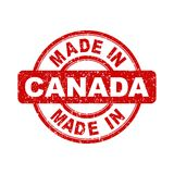 Made in Canada red stamp. Royalty Free Stock Photos