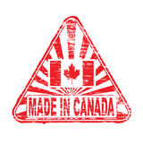 Made In Canada Rubber Stamp Royalty Free Stock Photos