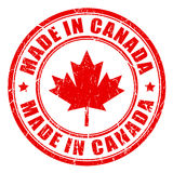 Made in Canada rubber stamp. Vector illustration Royalty Free Stock Photos