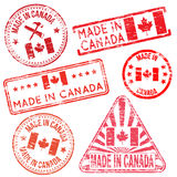 Made In Canada Rubber Stamps Stock Image