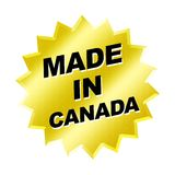 Made in Canada Sign stock photos