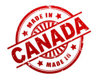 Made in canada stamp concept illustration Royalty Free Stock Photos