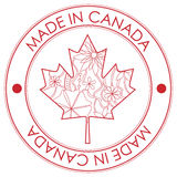 Made in Canada stamp Stock Photo