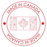 Made in Canada stamp Royalty Free Stock Images