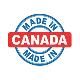Made in Canada. Vector emblem flat Royalty Free Stock Photo