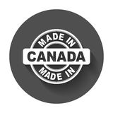 Made in Canada. Vector emblem flat Stock Photography