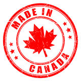 Made in Canada vector stamp. Isolated on white background Stock Image