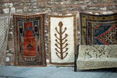 Made carpet and rugs of  traditional types. Old hand made carpet and rugs of  traditional types Stock Images