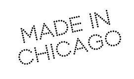 Made In Chicago rubber stamp royalty free illustration
