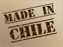 Made In Chile Means South America And Commercial Stock Photo