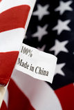 Made in china. USA flag, made in china Stock Photography