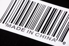 Made in China. And barcode, business concept Royalty Free Stock Photography