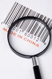 Made in China. And barcode, business concept stock photos