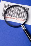 Made in China. And barcode, business concept Stock Image