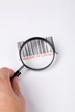 Made in China. And barcode, business concept stock photo