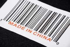 Made in China. And barcode, business concept Royalty Free Stock Images