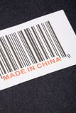 Made in China. And barcode, business concept Royalty Free Stock Photo